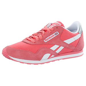 Reebok CL Nylon Slim Pop Sneaker Herren pink/weiß