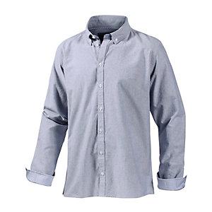 minimum Langarmhemd Herren blaugrau
