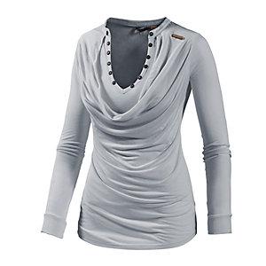 Khujo Langarmshirt Damen grau