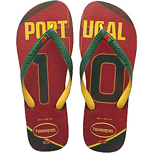 Havaianas Teams II Portugal Zehensandalen rot/grün/gelb