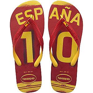 Havaianas Teams II Spanien Zehensandalen rot/gelb