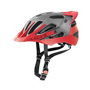 Uvex Quatro Pro Fahrradhelm silberfarben/rot