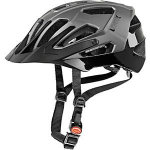 Uvex Quatro Fahrradhelm silberfarben/schwarz