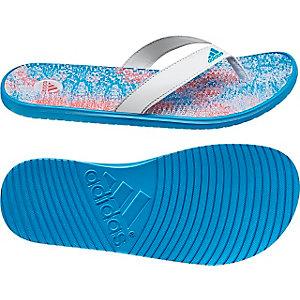 adidas Thong Zehensandalen Damen weiß/blau