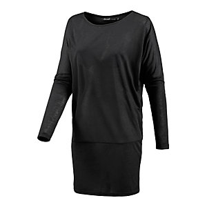 BLEND Langarmkleid Damen schwarz