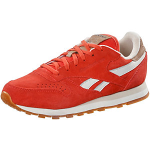 Reebok CL Leather Suede Sneaker Damen rot