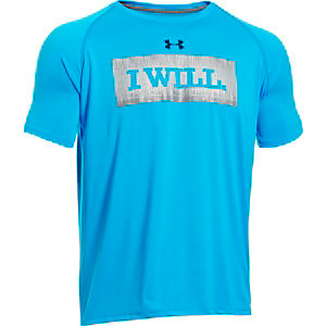 Under Armour UA Tech I Will Funktionsshirt Herren hellblau