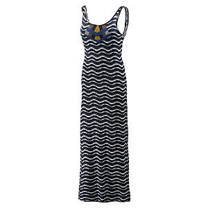 Mavi Jerseykleid Damen schwarz/weiß