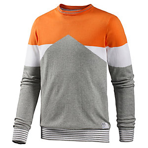 Bench Pimlico Strickpullover Herren graumelange/orange