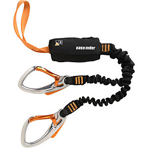 Black Diamond Easy Rider Via Ferrata Klettersteigset schwarz/orange