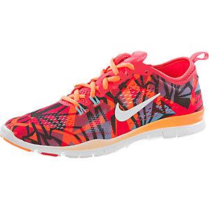 Nike Free 5.0 Trainer Fit 4 Fitnessschuhe Damen rot/türkis