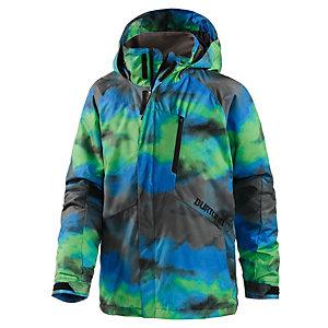 Burton Snowboardjacke Jungen grau/grün/blau