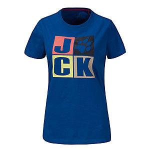 Jack Wolfskin Jackpaw Printshirt Damen in blau, Größe XXL