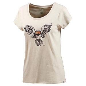 WLD Flashing Owl Printshirt Damen offwhite