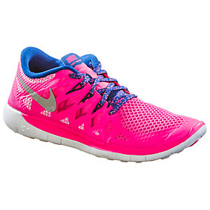 Nike Free 5.0 Laufschuhe Mädchen pink/blau