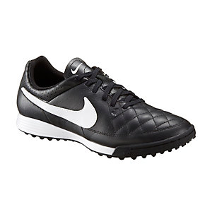 Nike Tiempo Genio Leather TF Fußballschuhe Herren schwarz/weiß