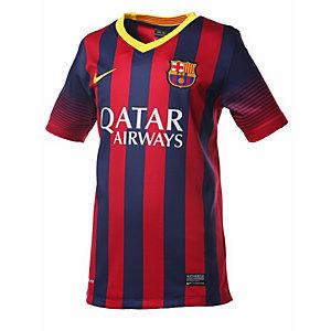 Nike Fußballtrikot Kinder navy/rot