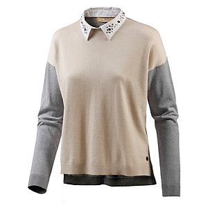 TOM TAILOR 2-In-1 Pullover Damen braun