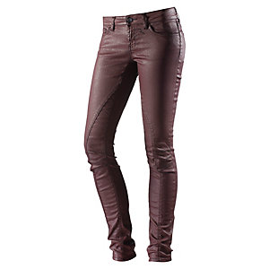 Rich & Royal Skinny Fit Jeans Damen dunkelrot