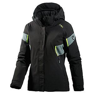 CMP Skijacke Damen schwarz/limette