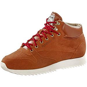 Reebok CL LTHR MID RIPPLE WW Sneaker Herren cognac