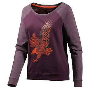 TOM TAILOR Sweatshirt Damen bordeaux