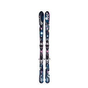 K2 Set Super One + ER3 10.0 (11/12) All-Mountain Ski Damen schwarz/grau