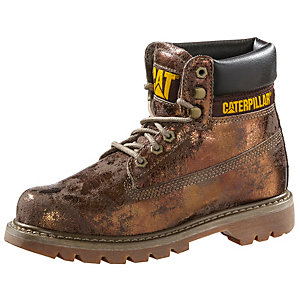 CATERPILLAR Colorado Schnürstiefel Damen braun/metallic