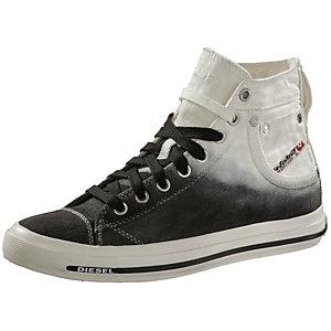 DIESEL Sneaker Damen schwarz/weiß