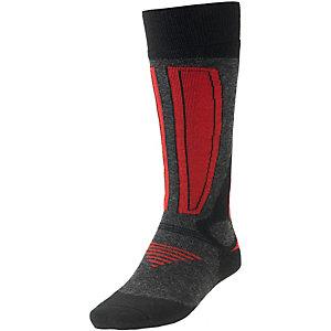 Rohner Skisocken schwarz/rot/anthrazit