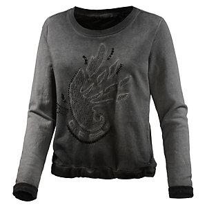 GARCIA Sweatshirt Damen dunkelgrau