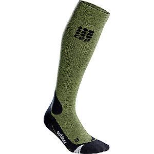CEP Outdoor Merino Kompressionsstrümpfe Herren grün/schwarz