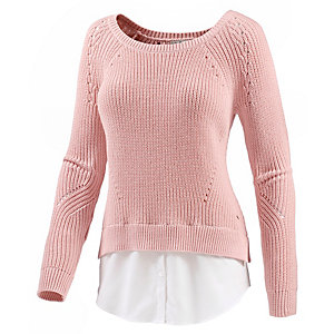 TOM TAILOR Sweatshirt, rose S Strickpullover Damen rose
