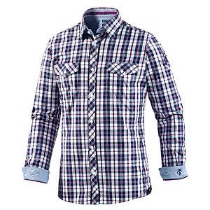TOM TAILOR Hemd langarm, blau S Langarmhemd Herren blau, weiß, rot