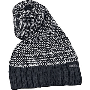 Chillouts Gerome Strickschal schwarz/weiß