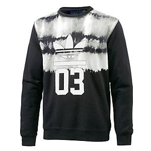 adidas 3Foil Crew AOP Sweatshirt Herren schwarz