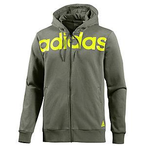 adidas Lineage FZ Sweatjacke Herren oliv/gelb