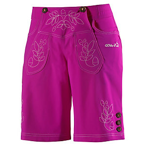 Wildzeit Lederne Bike Shorts Damen rose