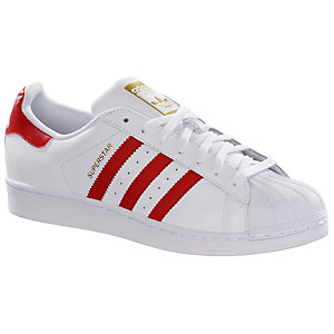 adidas superstar sneaker damen wei rot im online shop von. Black Bedroom Furniture Sets. Home Design Ideas