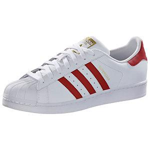 superstar adidas Weiß rot