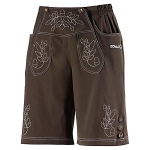 Wildzeit Lederne Bike Shorts braun/weiß