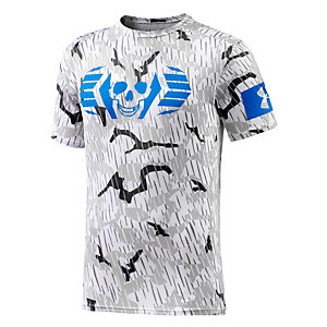 Under Armour Combine Skull Bolt Funktionsshirt Herren grau