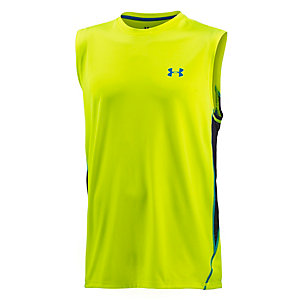 Under Armour Heatgear Tech Funktionstank Herren neongelb