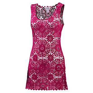 LingaDore Croched Dress Kurzarmkleid Damen fuchsia