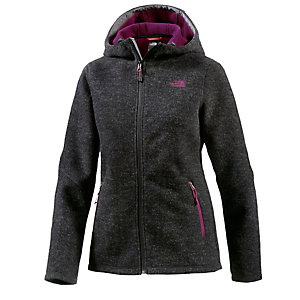 The North Face Saas Fee Strickfleece Damen dunkelgraumelange/lila
