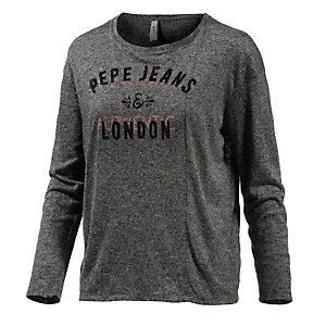 Pepe Jeans Langarmshirt Damen anthrazit melange