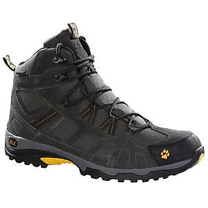 Jack Wolfskin Vojo Hike Mid Texapore Wanderschuhe Herren schwarz/gelb