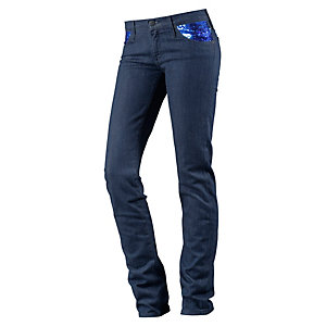 Lee Scarlett Skinny Fit Jeans Damen blue denim
