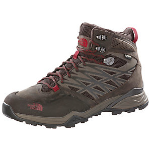 The North Face Hedgehog Hike Mid GTX Wanderschuhe Herren braun/rot