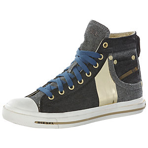 DIESEL Exposure Sneaker Damen indigo/goldfarben